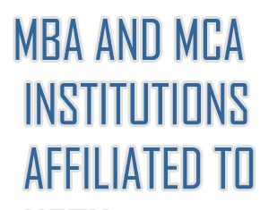 MBA AND MCA INSTITUTIONS AFFILIATED TO uttar pradesh techinical university