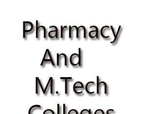 PGECET Pharmacy And M.tech colleges