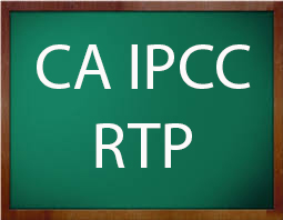 download ca ipcc rtp by icai. Revision test papers