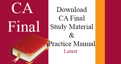 free download ca final study material in hindi and practice manual in hindi and English for may