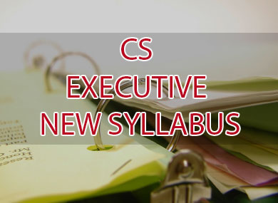 CS EXECUTIVE NEW SYLLABUS by icsi