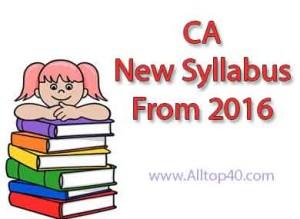 ca syllabus 2016