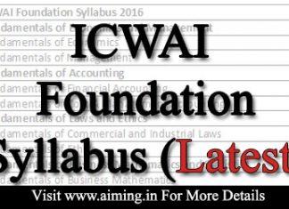 ICWAI Foundation syllabus