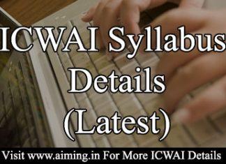 ICWAI Syllabus 2016