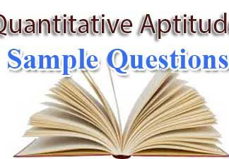 Quantitative Aptitude Sample Questions