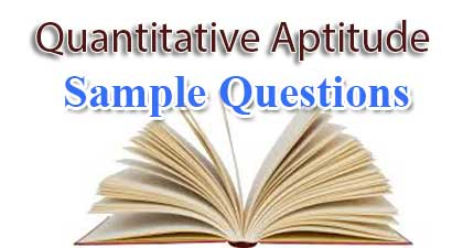 Quantitative Aptitude Sample Questions