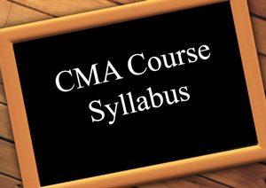 cma course syllabus India