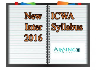 Icwa inter syllabus and CMA EXECUTIVE COURSE DETAILS
