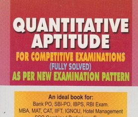quantitative aptitude book for ibps and competitive examinations