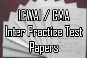 icwai cma inter practice test papers