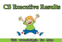 CS Executive Result | ICSI Result