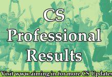 CS Professional Result | ICSI Results