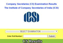 Latest CS Result | ICSI Results