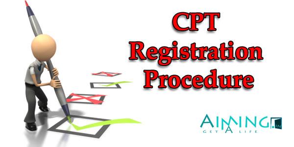 ICAI CA CPT Registration Procedure