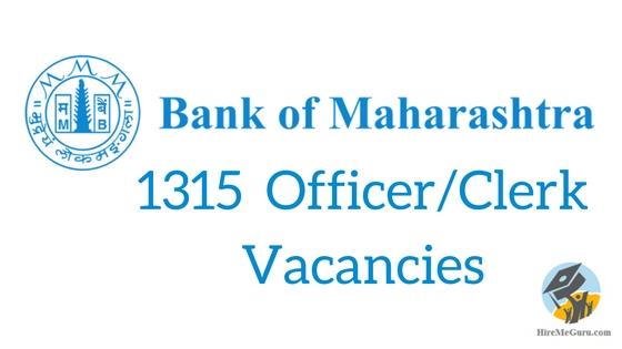 www.bankofmaharashtra.in Bank of Maharashtra recruitment 2016
