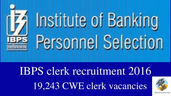 www.ibps.in IBPS clerk recruitment 2016