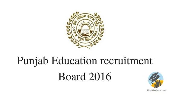 educationrecruitmentboard.com Punjab Education recruitment Board 2016