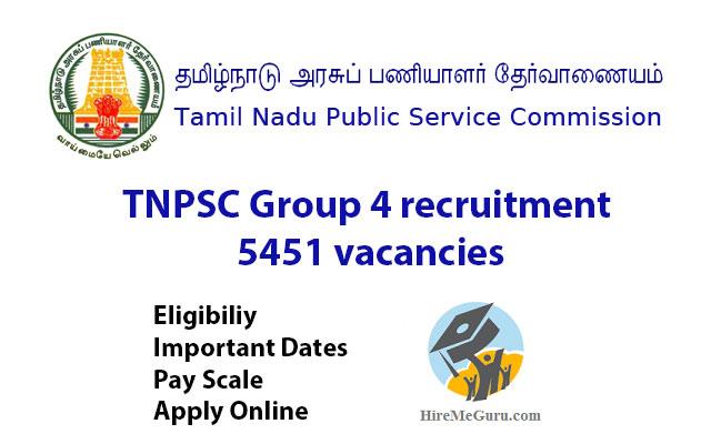 TNPSC Group 4 recruitment