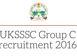 sssc.uk.gov.in UKSSSC Group C recruitment 2016