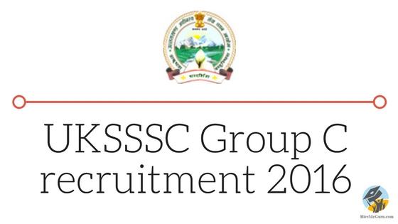 sssc.uk.gov.in UKSSSC Group C recruitment 2016