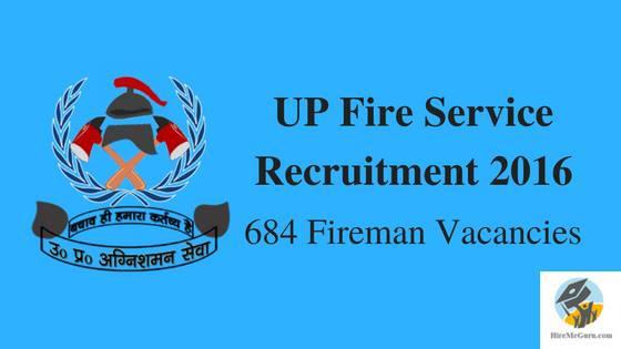 UP Fire Service Recruitment 2016