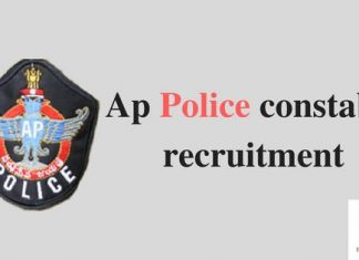 Ap Police Constable Recruitment Apply Online Through www.recruitment.appolice.gov.in