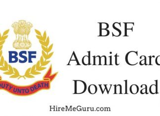 Download BSF Admit Card from rectt.bsf.gov.in