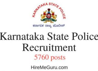 Karnataka State Police Recruitment Apply Online at www.ksp.gov.in