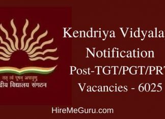 Kendriya Vidyalaya Recruitment Apply Online at kvsangathan.nic.in