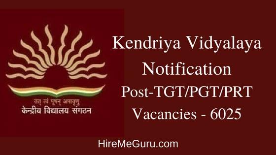 Kendriya Vidyalaya Recruitment Apply Online at kvsangathan.nic.in