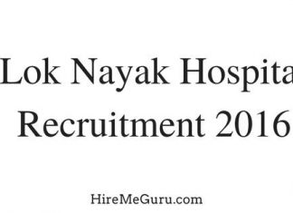 Lok Nayak Hospital Recruitment Apply online at delhigovt.nic.in
