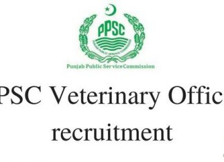 PPSC Veterinary Officer Recruitment Apply Online at ppsc.gov.in