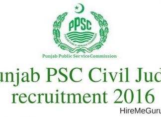 Punjab PSC Civil Judge Recruitment Apply Online at www.ppsc.gov.in