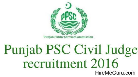 Punjab PSC Civil Judge Recruitment Apply Online at www.ppsc.gov.in
