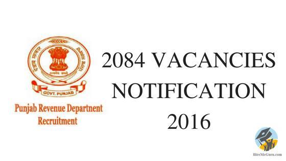 Punjab Revenue Department Recruitment Apply Online at Punjabrevenue.nic.in
