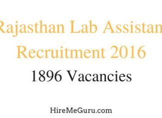 Rajasthan Lab Assistant Recruitment Apply Online at rsmssb.rajasthan.gov.in