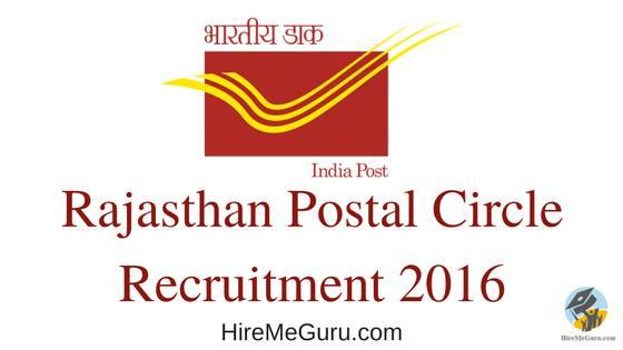 Rajasthan Post Office Recruitment Apply Online at www.rajpostexam.com