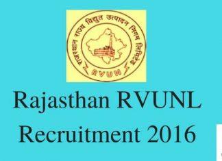 Rajasthan RVUNL Recruitment Apply online at energy.rajasthan.gov.in