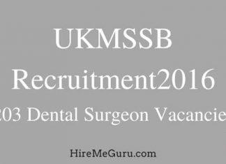 UKMSSB Dental Surgeon Recruitment Apply Online at ukmssb.org