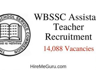 WBSSC Assistant Teacher Recruitment Apply Online at www.westbengalssc.com