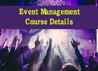 Event Management Course Details