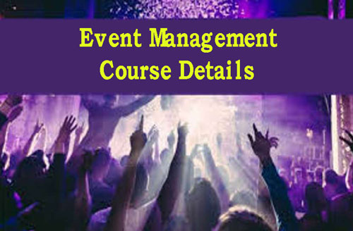 Event Management Course Details