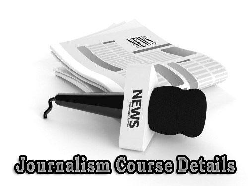 Journalism Course Details