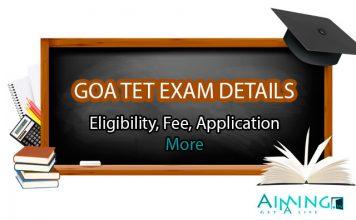 Goa TET Exam Details