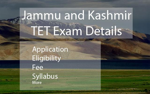 Jammu Kashmir Tet Exam Details
