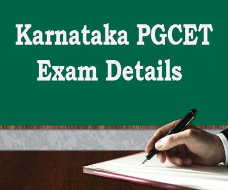 Karnataka PGCET Exam Details