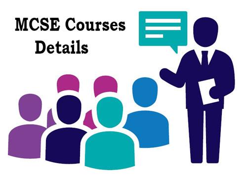 MCSE Courses Details