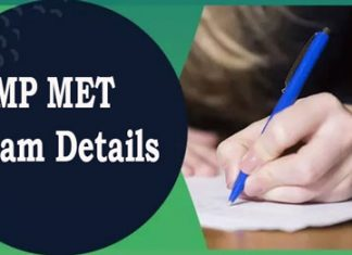 MP MET Exam Details