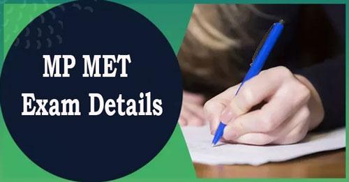 MP MET Exam Details