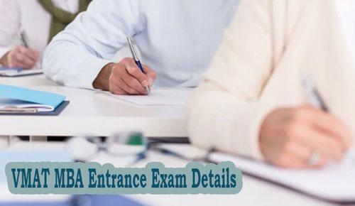 VMAT MBA Entrance Exam Details